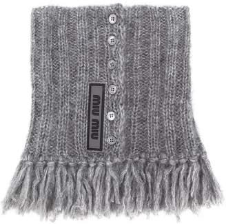 Miu Miu tassel knitted collar