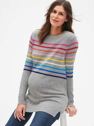Gap Maternity Crazy Stripe Crewneck Pullover Sweater Tunic