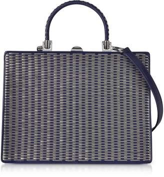 Rodo Ocean Blue Nappa Leather Satchel Bag