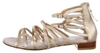 Stuart Weitzman Leather Flat Sandals