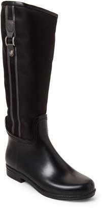 dav Black & Flint Fairfield Tall Rain Boots
