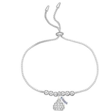 Hershey's Hersheys Sterling Silver Crystal Kiss Bolo Bracelet