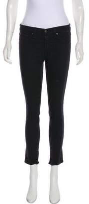 Rag & Bone Zipper Cropped Mid-Rise Jeans