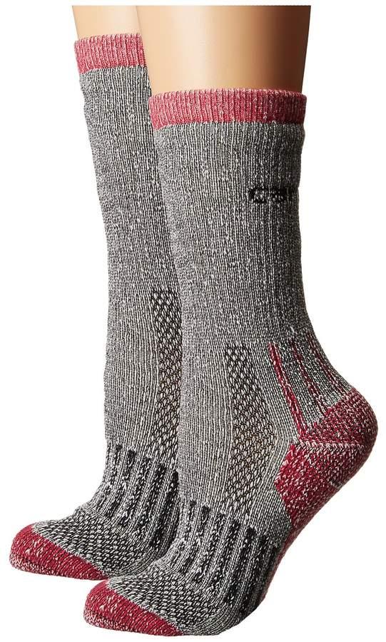 All Terrain Crew Socks 2-Pair Pack Women's Crew Cut Socks Shoes