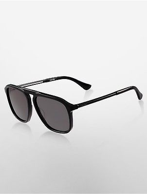 Calvin Klein Calvin Klein Womens Aviator High Bar Sunglasses Black