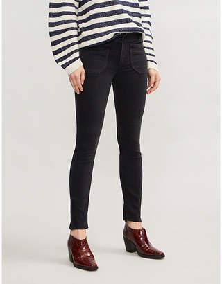 Paige Utility-pocket skinny high-rise stretch-denim jeans