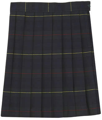 French Toast Plaid Woven Pleated Skirt - Big Kid Girls Plus