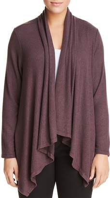 Bobeau B Collection by Curvy Ami Open Waterfall Cardigan