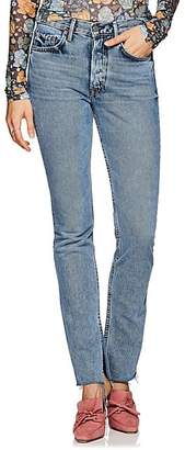 GRLFRND Women's Addison High-Rise Boot-Cut Jeans - Blue