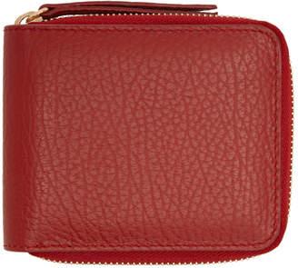 Maison Margiela Red Portafoglio Zip Wallet