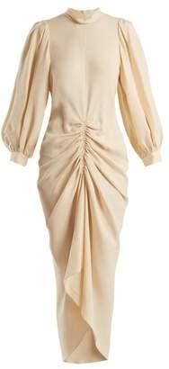 Joseph Fay Ruched Silk Crepe Dress - Womens - Cream