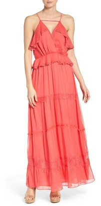 Women's Adelyn Rae Tiered Chiffon Maxi Dress $118 thestylecure.com