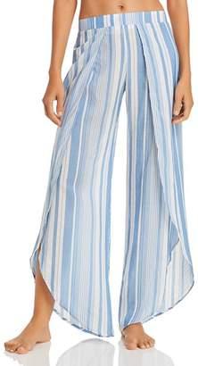 Ralph Lauren Yarn Dyed Stripe Wrap Swim Cover-Up Pants