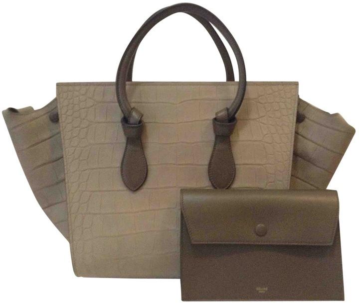 CelineTie leather handbag