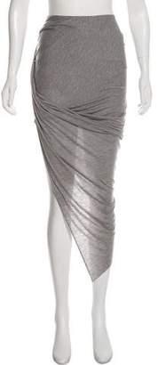 Helmut Lang Asymmetrical Knee-Length Skirt