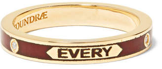 Foundrae - With Every Breath 18-karat Gold, Enamel And Diamond Ring
