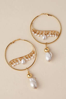 Anthropologie Ziva Hoop Earrings