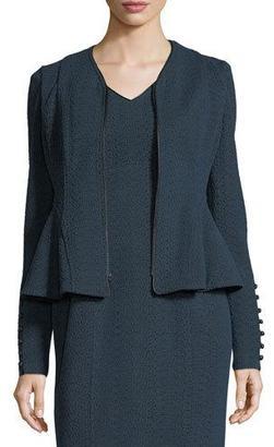 Nanette Lepore Ava Zip-Front Textured Knit Jacket $498 thestylecure.com