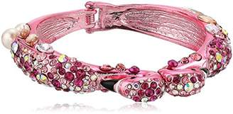 Betsey Johnson Critters Flamingo Hinge Bangle Bracelet