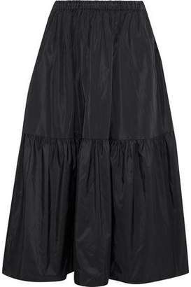 Stella McCartney Tanya Gathered Taffeta Midi Skirt