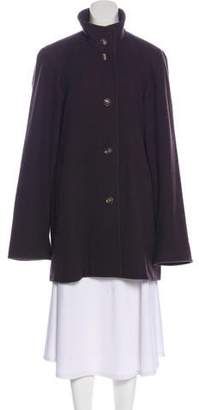 Akris Funnel Neck Knee-Length Coat