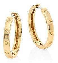"""Roberto Coin Women's Pois Mois 18K Yellow Gold Hoop Earrings/0.75"""""""