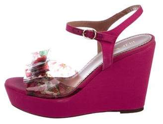 RED Valentino Bow-Accented Platform Wedges