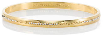 Kate Spade Pave bridesmaid idiom bangle