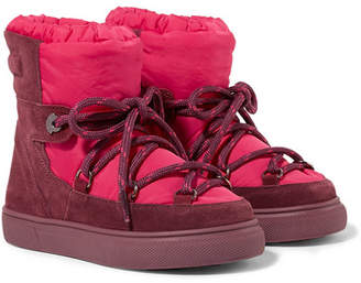 Moncler Size 26 - 36 Stephanie Shell And Suede Snow Boots