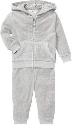 Ralph Lauren French Terry Zip-Up Jacket w/ Sweatpants, Size 6-24 Months