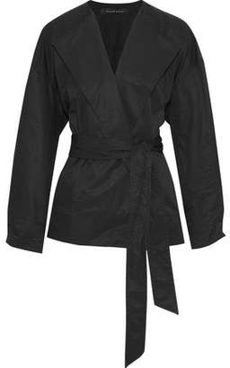 Roland Mouret Cotton-Blend Wrap Jacket