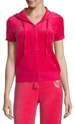 Juicy Couture Graphic Velour Hoodie