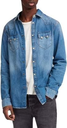 AllSaints Imonum Denim Shirt