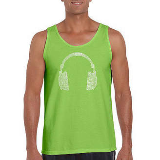LOS ANGELES POP ART Los Angeles Pop Art Men's 63 Different Genres of Music Tank Top
