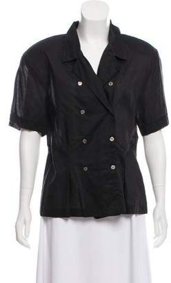 Christian Dior Double-Breasted Short Sleeve Button-Up