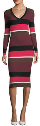 Trina Turk Grand Ave Striped Merino Wool Sweaterdress