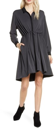 French Connection Ren Contrast Detail Long Sleeve Dress