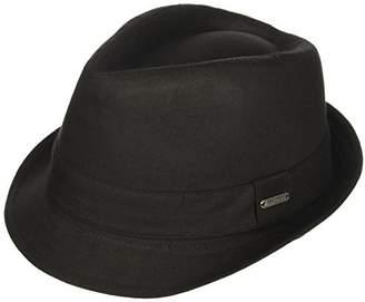 Van Heusen Men's Twill Herringbone Fedora Hat
