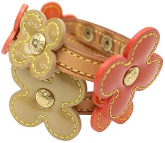 Louis Vuitton Vintage Beige Leather Bracelets
