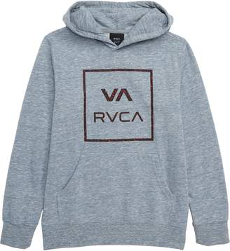 RVCA Fill All the Way Logo Hooded Pullover Sweatshirt