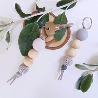 Little Bird Designs Wooden Bead Keyring