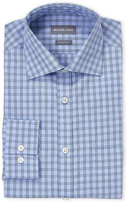 Michael Kors Stream Striped Check Regular Fit Dress Shirt