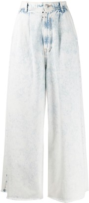 MM6 MAISON MARGIELA wide-leg acid-wash jeans