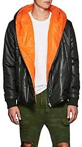NSF Men's Tech-Taffeta Hooded Puffer Jacket - Dk. Green