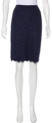 Diane von Furstenberg Knee-Length Lace Skirt