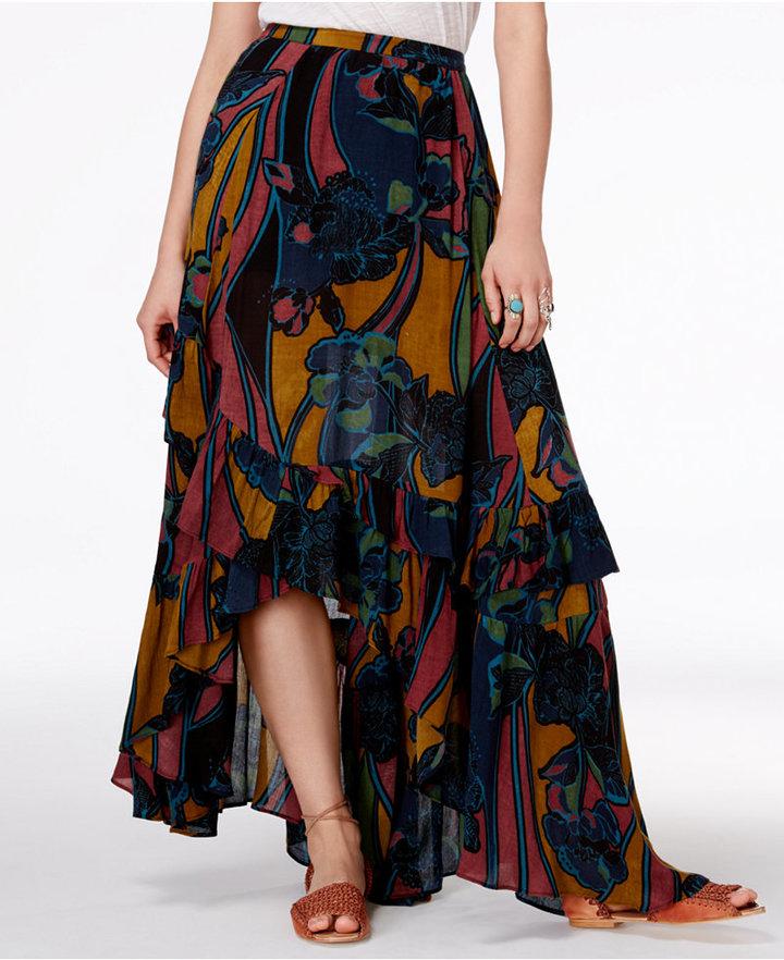 Free People Bring Back Summer Printed Maxi Skirt