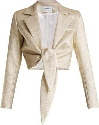 Osman Bette tie-waist lamé jacket