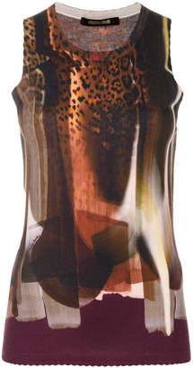 Roberto Cavalli leopard print tank top