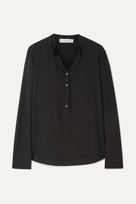 Stella McCartney Eva Silk Crepe De Chine Blouse - Black