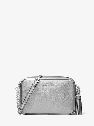 Michael Kors Ginny Metallic Leather Crossbody